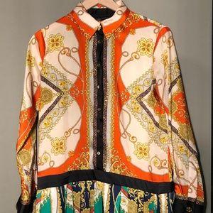 Zara Women Retro Print Dress